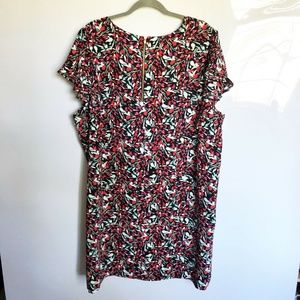 Tahari My Perfect Shape Plus Floral Shift Dress 3X